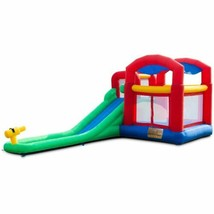 Durable Inflatable Moonwalk Slide Bounce House w/Storage Bag - $303.99
