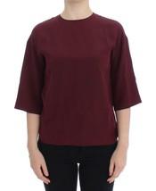 Dolce & Gabbana Red 3/4 sleeve silk blouse - $197.21
