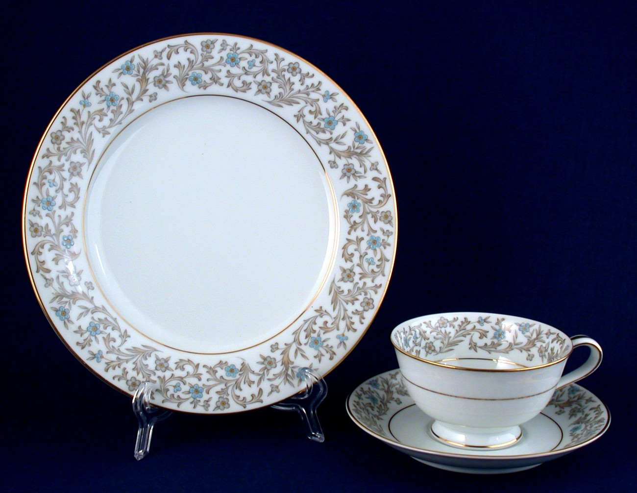 Noritake Dover 3-pc Cup Saucer Salad Plate Place Setting 5633 New China Trio