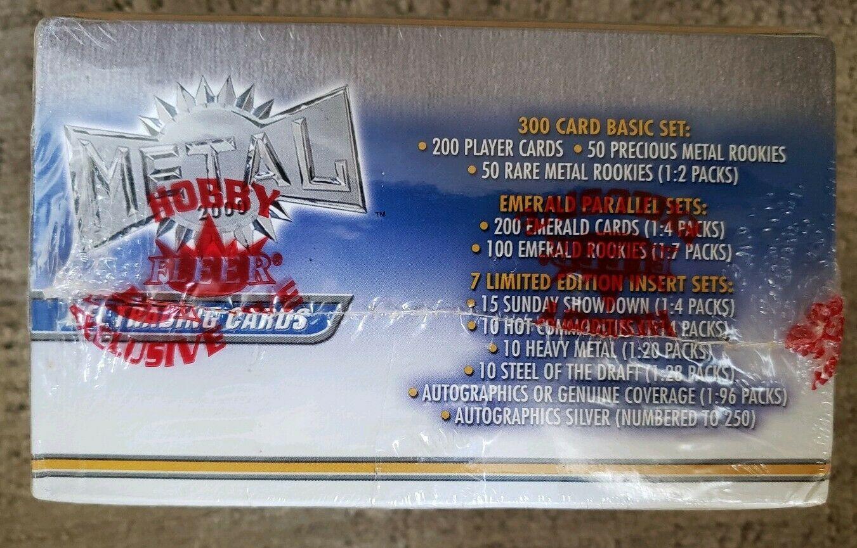 (3x) 2000 Fleer Metal Football Sealed Hobby Packs - Tom Brady Rookie RC?!