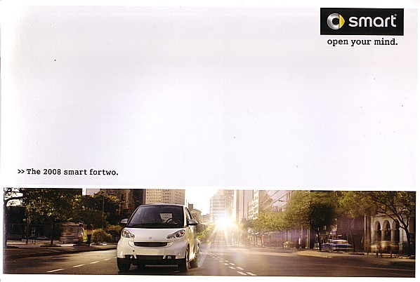 2008 SMART FORTWO dlx US sales brochure catalog 08 Swatch pure passion