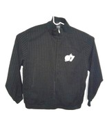 Adidas NBA 07 Men's L Las Vegas All Star Game Black Pin Stripe Full Zip ... - $30.69