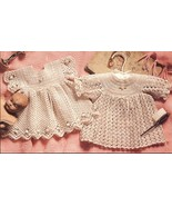 Baby Christening Collection Book 2 Infants Dresses Gowns Short & Long Bonnet   - $24.99