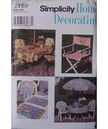 Sewing Pattern 7159 Outdoor Furniture Decorating UNCUT - $6.99