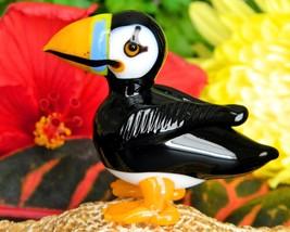 Vintage Puffin Auk Bird Hand Blown Art Glass Figurine Sculpture OOAK - $19.95