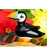 Vintage Puffin Auk Bird Hand Blown Art Glass Fi... - $19.95