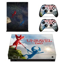 Unravel Two xbox one X skin decal for console and 2 contro - $15.00