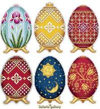 Easter Eggs Faberge Style Collection III cross stitch chart Solaria Designs - $15.00