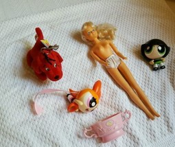 Toy 5 piece lot Pre-owned Girl's doll Clifford Cartoon Network Disney Nice Cond - $4.99