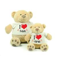 Valentine's Day Gift Personalised Honey Bear - 2 Sizes - Customised T Shirt - $21.25