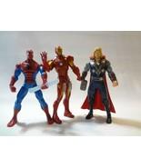 2011 Mighty Thor hammer slinging battlers Avengers figure Iron Man Spide... - $14.83