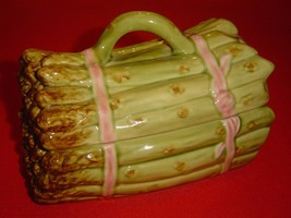Vintage Asparagus Bowl Serving Container with Lid. Ceramic. Made in Port... - €13,08 EUR