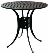 "Bar height patio table Nassau 48"" round cast aluminum outdoor furniture. image 1"
