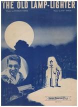 Sheet Music - The Old Lamp-Lighter ~ Tobias ~ Simon ~ Perry Como ~ 1946 - $11.83