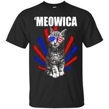 Meowica - Patriotic July 4th Independence Day T-Shirt - ₨1,622.97 INR+