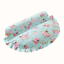 Adult Spine Pillow Buckwheat Pillow Light Blue And Pink Flower Pillow - $46.86