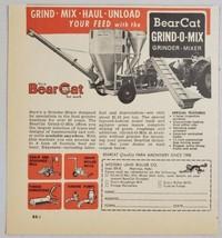1964 Print Ad BearCat Grind-O-Mix Grinder Mixer Western Land Roller Hastings,NE - $10.87