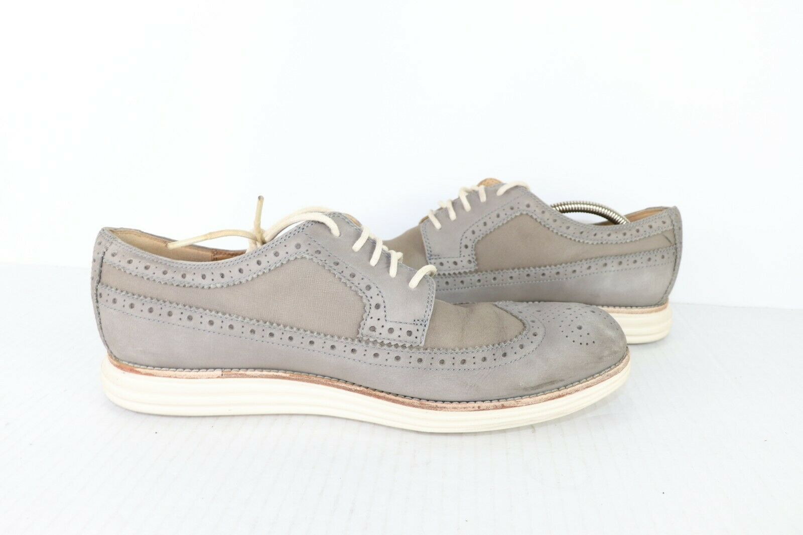 Cole Haan Lunargrand Hommes Taille 11.5 M Cuir Bout Richelieus Robe Chaussures