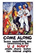 Come along - learn something, see something in the U.S. Navy Ample shore leave f - $19.99+