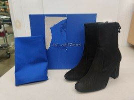 Stuart Weitzman Benita Suede Ankle Boots - Black - US Size 7 - $179.88