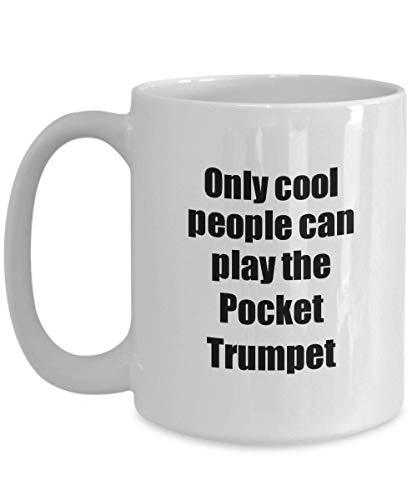 Primary image for Pocket Trumpet Player Mug Musician Funny Gift Idea Gag Coffee Tea Cup 15 oz