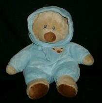 """10"""" TY PLUFFIES BLUE LOVE TO BABY TAN TEDDY BEAR STUFFED ANIMAL PLUSH TO... - $16.83"""