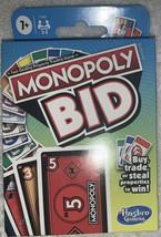 Monopoly Bid Hasbro Brand NEW Card Game - free shipping - $8.56