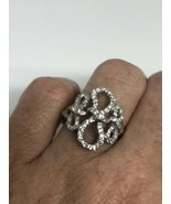 Vintage White Sapphire Ring 925 Sterling Silver Size 7.25 - $163.35