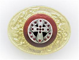 Belt  BUCKLE * Metal *  GOLD Color * Real RADDLE SNAKE Oval  * - $14.95