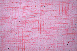 50'S/60'S COUNTERTOP IN PINK FROM MICHAEL MILLER- 100% COTTON FABRIC   - $7.91