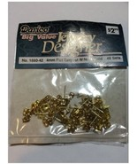 Wholesale Bulk Buy: 48-sets 4mm Gold Flat Earposts with Nuts (6-packs) #... - $0.99