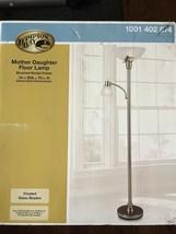 Hampton Bay Mother Daughter Floor Lamp brushed nickel finish | Pre-Owned - $273.54