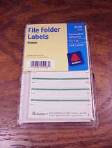 New Pack of Avery File Folder Green Permanent Labels, no. 05203, 1/3 cut - $4.95
