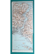 TURKEY Bosporus Constantinople Istanbul Environs - 1911 BAEDEKER MAP - $18.00