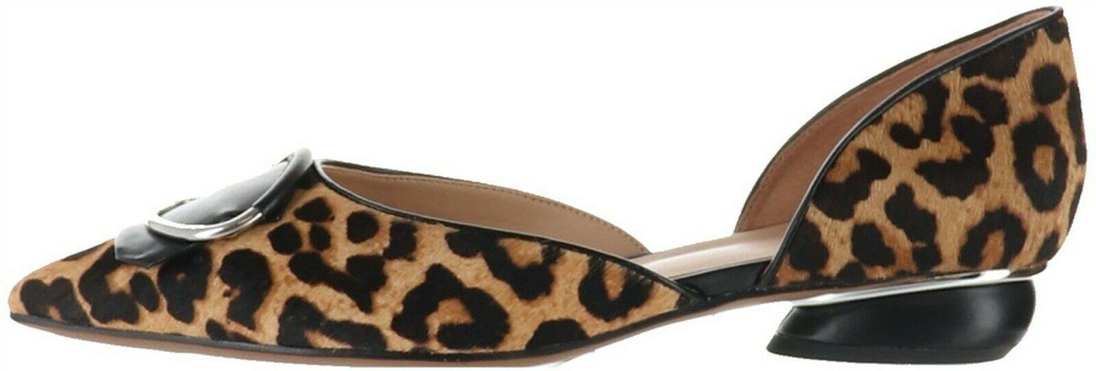 Franco Sarto Pointed Toe Haircalf Kiltie Flats Reed Camel 9M NEW A368571 - $36.61