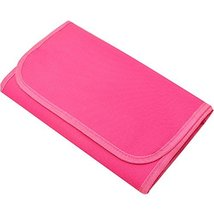 Travel Essential Pink Portable Canvas Cosmetic Bag Multi-pouch image 2