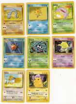 Set of 13 Common and Uncommon Base Set Pokemon Cards - $11.57
