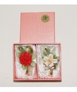 Set of Two Capodimonte Porcelain Carlo Savastano Jewelry Flower Pin Br... - $32.99