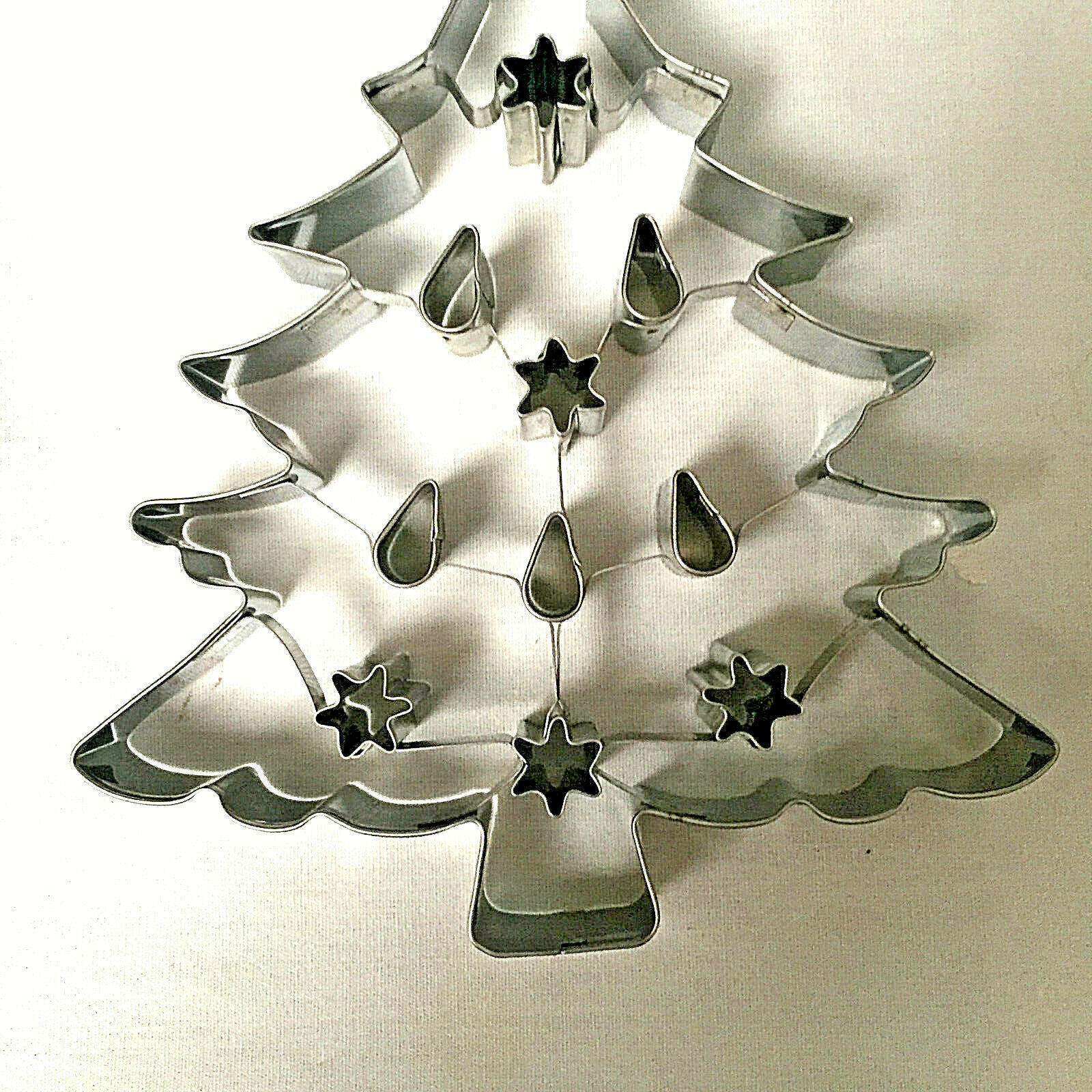 Christmas Tree Cookie Cutter Williams Sonoma Large Alunimum 8 Inches image 2