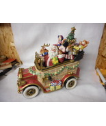 Fitz And Floyd Signature Collection Santa Car Cookie Jar Numbered to 3000 - $276.21