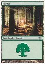MTG x4 Forest BASIC LANDS 1 of each version 8th Edition - $1.00