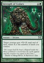 MTG x4 Strength Of Cedars Champions MINT + BONUS! - $1.50