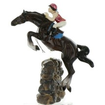 Hagen Renaker Specialty Horse Jumping with Rider Ceramic Figurine