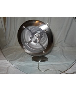 Stainless Steel & Glass Dinner/ Pool table Hanging Halogen Light Thick G... - $65.00