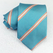 Striped Necktie 100% silk blue Jacquard Morgana Made in Italy business /... - $24.40