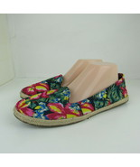 AEO American Eagle Outfitters Womens Flat Espadrille Shoes Floral Ballet... - $13.99