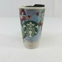 Starbucks 2015 Tumbler Mug Cup Watercolor Barista Art Shelby Kregel 12oz   - $18.25
