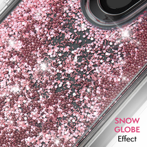 CaseMate Waterfall Case for Google Pixel 3 Rose Gold Pink Glitter Beads NEW image 3