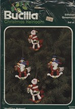 "Bucilla Christmas Heirloom Stitchery Ornaments ""Rocking Riders"" #48993 New - $15.66"
