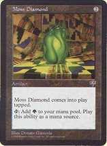 MTG x2 Moss Diamond (Mirage) MINT + BONUS! - $1.00